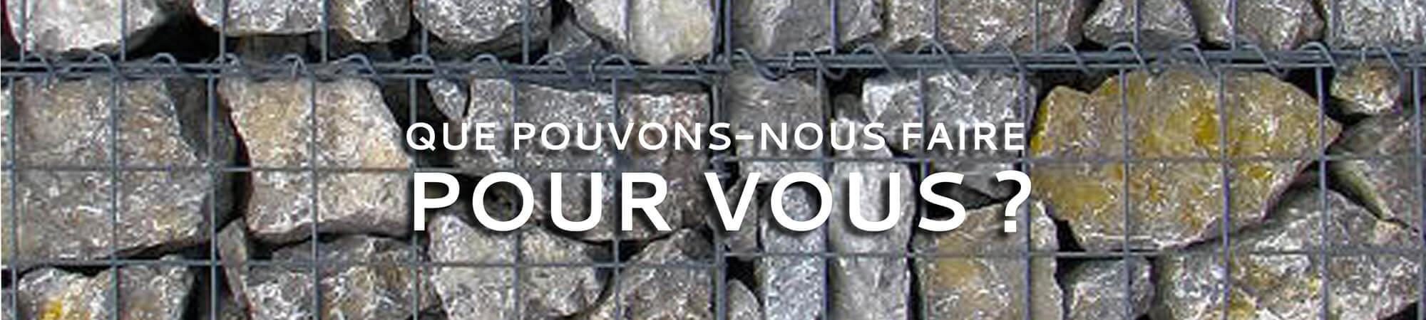 Vente et installation de murs de soutènements et murs gabions en pierre à petits prix